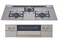 ハーマン製(WOODONE)UDGH013-7(A/L)N-SG ガラストップ水無し両面焼グリル【piattovari】 ●ガスコンロ
