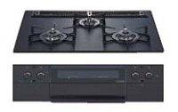 ハーマン製(TOCLAS)W3S5WAAFAE ピアット ブラック アルミトップ3口コンロ 間口60cm ●ガスコンロ
