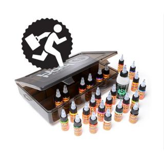 ETERNAL INK エターナルインク 持ち運びに最適 インク25色&ステンシルスタッフ ボックスセット