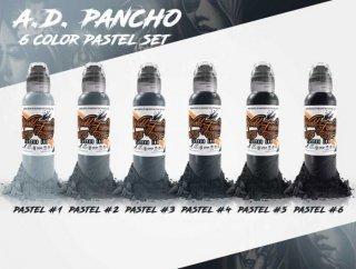 WORLD FAMOUS ワールド・フェイマス A.D.Pancho監修 パステルグレ— タトゥーインク 6色セット