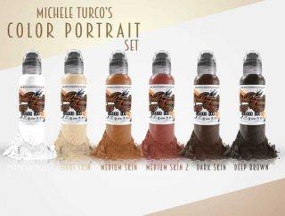 WORLD FAMOUS ワールド・フェイマス  Michele Turco監修 人物画用 タトゥーインク 6色セット
