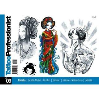 イタリア直輸入 プロフェッショナルシリーズ 芸者 GEISYA 169種 タトゥーデザイン本