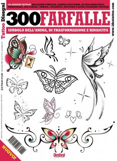 イタリア直輸入 蝶 バタフライ 300種類 タトゥーデザイン本
