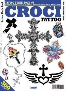 イタリア直輸入 クロス 十字架 ロザリオ タトゥーデザイン本
