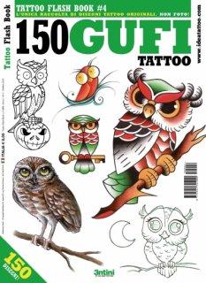 イタリア直輸入 フクロウ 150種類 タトゥーデザイン本