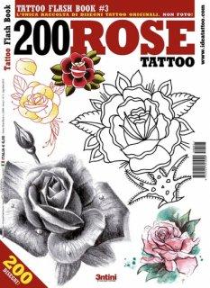 イタリア直輸入 ローズ 薔薇 バラ 200種類 タトゥーデザイン本
