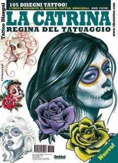 イタリア直輸入 スカルウーマン メキシカン 髑髏 女性 タトゥーデザイン本