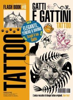 イタリア直輸入 猫 子猫 キャット タトゥーデザイン本