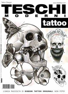 イタリア直輸入 コンテンポラリー スカル 現代風 髑髏 タトゥーデザイン本