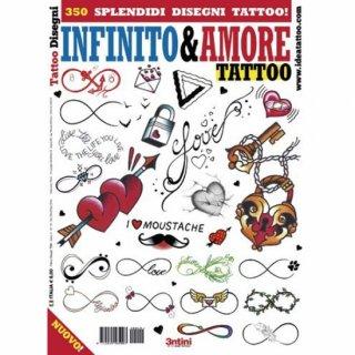 イタリア直輸入 350種 永遠と愛 Infinity & Love タトゥーデザイン本