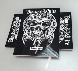 BLACK & WHITE VOLUME TWO ブラック&ホワイト TATTOO VOL2 タトゥーデザイン本