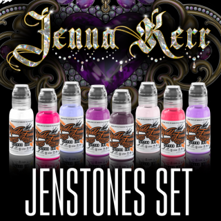 WORLD FAMOUS ワールド・フェイマス Jenna Kerr Jenstone Set タトゥーインク 8色セット