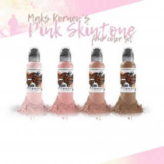 WORLD FAMOUS ワールド・フェイマス  Maks Kornev Pink Skintone 肌色 タトゥーインク 4色セット