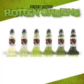 WORLD FAMOUS ワールド・フェイマス Rotten Green Set タトゥーインク 6色セット