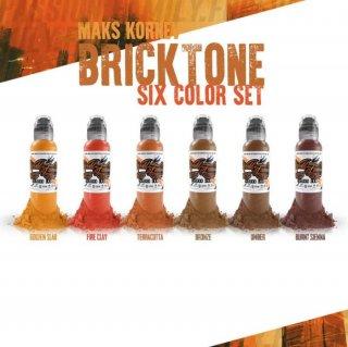 WORLD FAMOUS ワールド・フェイマス Bricktone Set タトゥーインク 6色セット