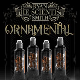 WORLD FAMOUS ワールド・フェイマス Ornamental ブラックウォッシュ タトゥーインク 4色セット