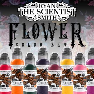 WORLD FAMOUS ワールド・フェイマス Flower Set タトゥーインク 8色セット