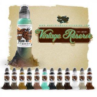 WORLD FAMOUS ワールド・フェイマス Pony Lawson監修 Vintage Reserve タトゥーインク 12色セット