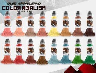 WORLD FAMOUS ワールド・フェイマス Oleg Shepelenko監修 リアリズムカラー タトゥーインク 16色セット