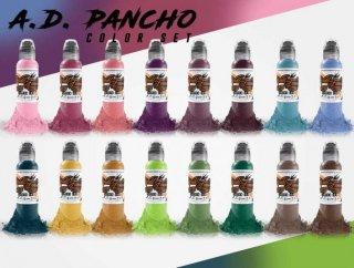 WORLD FAMOUS ワールド・フェイマス A.D.PANCHO監修 カラータトゥーインク 16色セット