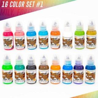WORLD FAMOUS ワールド・フェイマス カラーインクセット#1 タトゥーインク 16色セット