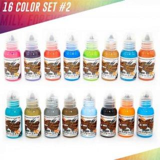 WORLD FAMOUS ワールド・フェイマス カラーインクセット#2 タトゥーインク 16色セット