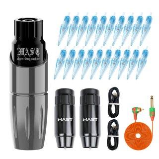 DH Mast ツアー ワイヤレスタトゥーマシン & 交換可能バッテリー