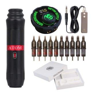 DH Atom M1トータリータトゥーマシン & パワーサプライ & カートリッジニードル他 キット 13-8