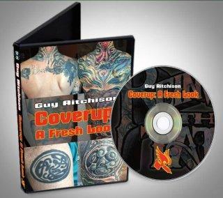 カバーアップ タトゥー講座 Guy Aitchison 1時間45分 DVD