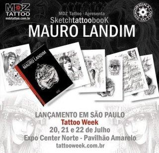 ブラジル直輸入 Mauro Landim スケッチタトゥーブック デザイン本