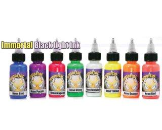 Immortal イモータル タトゥーインク ブラックライトインク 8色セット