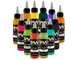 Raw Ink ローインクイモータル タトゥーインク ブラックライトインク 12色セット
