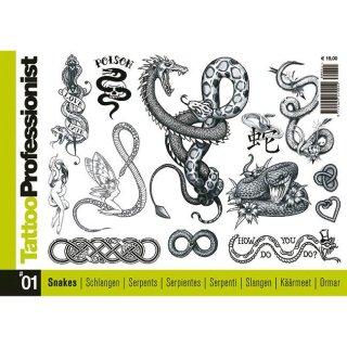 イタリア直輸入 プロフェッショナルシリーズ スネーク 蛇 300種 タトゥーデザイン本