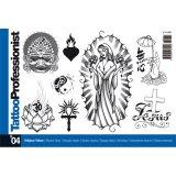 イタリア直輸入 プロフェッショナルシリーズ 宗教 レリジョン シンボル 400種 タトゥーデザイン本