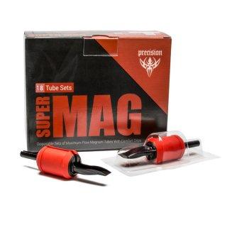 Super Mag マグナム 1インチ (2.5cm) 使い捨て チューブ&グリップセット 18本入り