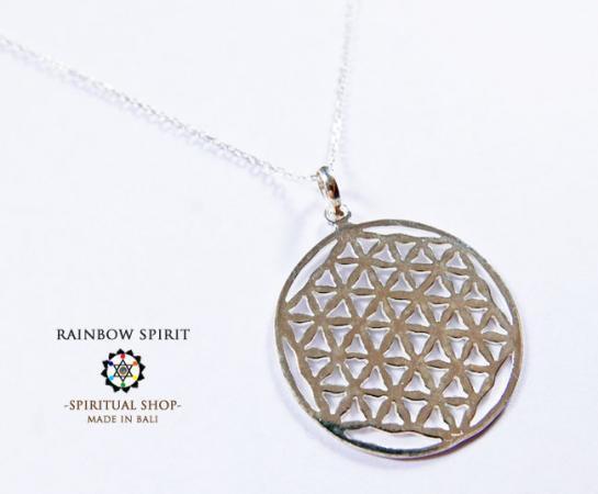 [Silver925]Flower of Lifeシルバーペンダント・28mm(神聖幾何学フラワーオブライフ:生命の花)