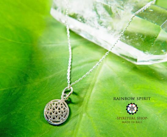 [プラチナコーティング / Pt1000PP]Flower of Lifeプラチナコーティングペンダント・10mm(神聖幾何学フラワーオブライフ:生命の花…