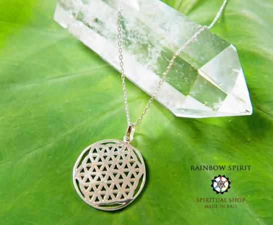 [プラチナコーティング / Pt1000PP]Flower of Lifeプラチナコーティングペンダント・22mm(神聖幾何学フラワーオブライフ:生命の花…