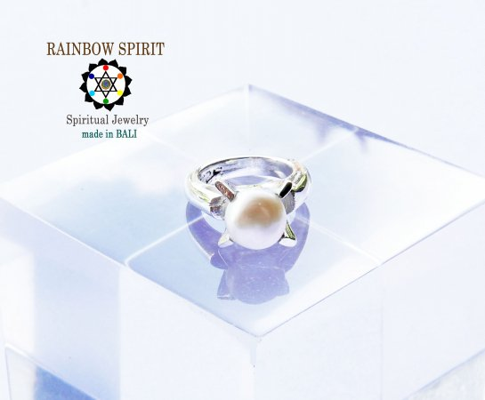 [Silver925]パール(真珠)のシルバーベビーリング(6月の誕生石)