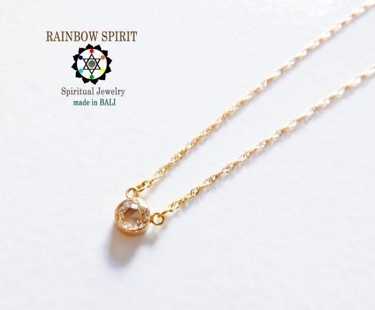 【GOLD K18YG】 ダイヤモンドの18金・イエローゴールドネックレス(直径4mm)(K18刻印あり)