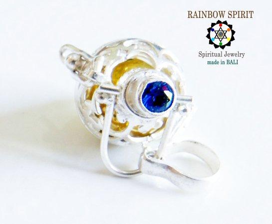 [Silver925]9月の誕生石ブルーサファイアのガムランボール(極小SSサイズ/オープンタイプ)