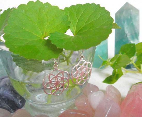 [Silver925]『神聖幾何学シードオブライフ:生命の種』Seed of Lifeシルバーピアス