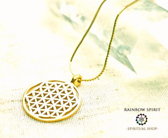 [K18]Flower of Lifeペンダント・Sサイズ(神聖幾何学フラワーオブライフ:生命の花)