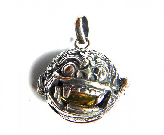 [Silver925]聖獣バロンのガムランボール/シルバーペンダント(オープンタイプ)