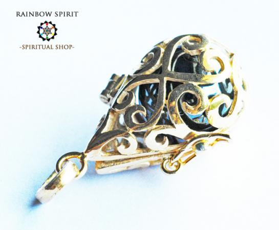 [GOLD K18RGP]中身が取り出せる18金コーティングペンダント(ヘマタイト)