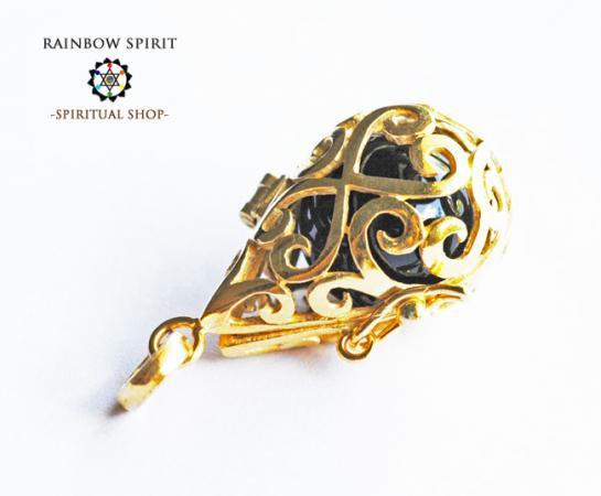 [GOLD K18RGP]中身が取り出せる18金コーティングペンダント(オニキス/黒瑪瑙)