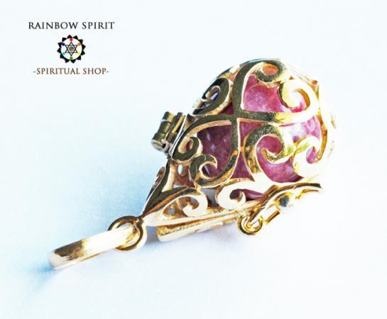 [GOLD K18RGP]中身が取り出せる18金コーティングペンダント(ロードナイト)