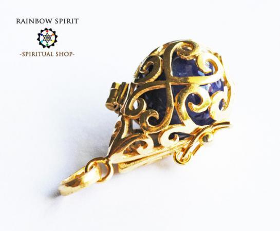[GOLD K18RGP]中身が取り出せる18金コーティングペンダント(ソーダライト)