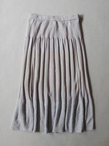 トロワニットリブスカート