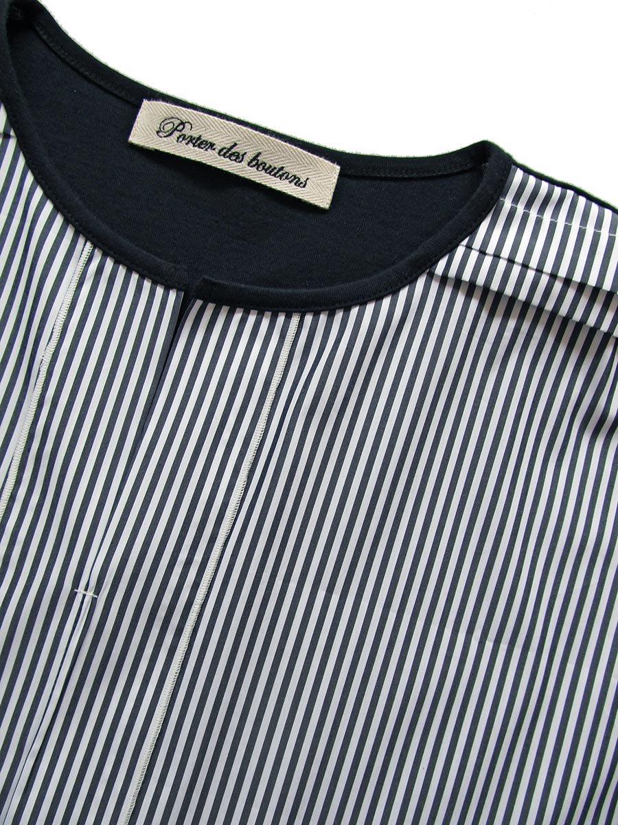 ストライプドルマンプルオーバー Dolman sleeve pullover 7